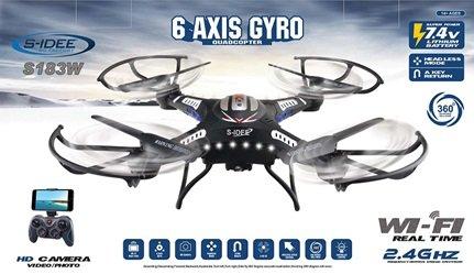 s-idee® 01540 Quadrocopter S183W HD KAMERA WIFI 4.5 Kanal 2.4 Ghz Drohne mit Gyroscope Technik DROHNE MIT WIFI FPV Drohne HD Kamera One Key Return Coming Home Funktion - 3