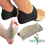 MEDIZED Plantar Fasciitis Therapy Wrap Heel Foot Pain Arch Support Ankle Brace Insole
