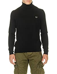 FRED PERRY - - Homme - Pull Col Roulé Merinos Noir pour homme