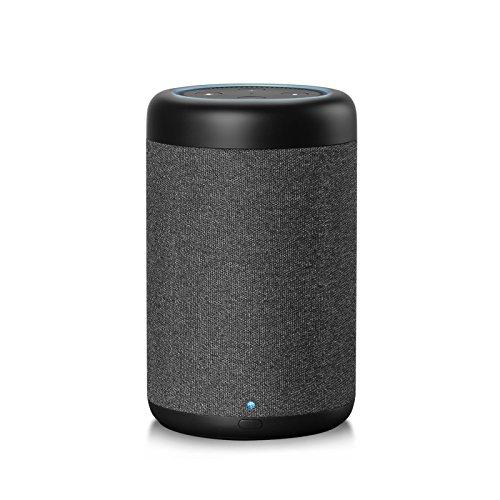 GGMM D6 Lautsprecher & Ladestation für Amazon Dot (2. Generation) 360°-Sound, 20W, 5200 mAh, schwarz