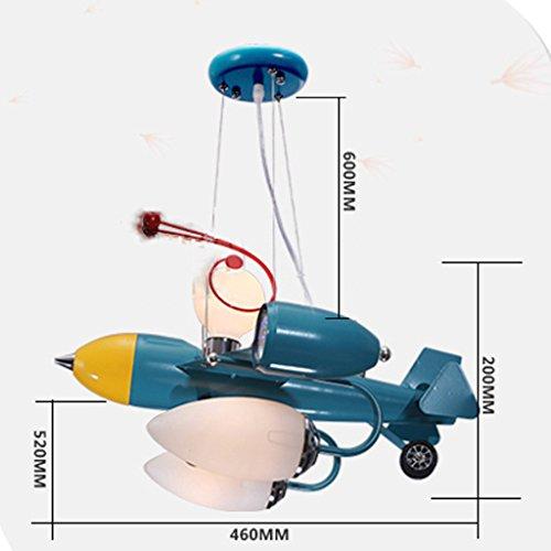 Guo Kinderzimmer Schlafzimmer Lichter Kämpfer Kreative Kronleuchter Junge Aircraft Lichter Hardware-Technologie E14 Lampe Port - 4