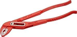 SAM Outillage 201-25V Pince multiprise type plombier avec branches entrepassées à double crémaillère Longueur 250 mm