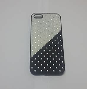White / Black Color Rubber Coated Sylish Diamond Hard Back Case For Iphone 5G / 5S Only From M.P.Enterprises
