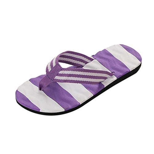 Uomogo® infradito da donna, estate pantofole, sandali da spiaggia, flip flops, ciabatte da mare, suola antiscivolo (asia 39, viola)