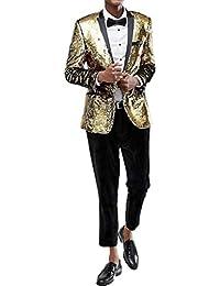 Judi Dench Giacca da Uomo con Un Bottone 1 Pezzi e Brillantini con  Paillettes Glitterati 62ca8e6c6e6
