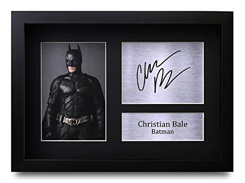 n Bale (GERAHMTES) Geschenke Unterzeichneten A4 Gedrucktes Autogramm Batman The Dark Knight Druck-Foto-Bilderanzeige ()
