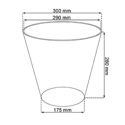 Design - Blumentopf Übertopf Ø 300 rund Pflanzkübel TUBUS taupe matt Pflanztopf von Prosperplast bei Du und dein Garten