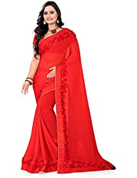 RIVA ENTERPRISE Women's Georgette Saree Red