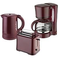 Efbe-Schott Juego de desayuno WK 1080+ to 1080+ KA 1080Hervidor de agua 1L, Tostadora y cafetera eléctrica 1,25l Vino Rojo De Burdeos