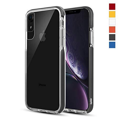 Ispider Hülle für iPhone XR, [3 Meter militärischer Grad Anti-Drop] Klar Handyhülle für Apple iPhone XR, Dual-Layer Rahmen [Stoßfest] [Kratzfest], MEHRWEG - Schwarz