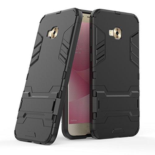 Zenfone4 Selfie Pro(ZD552KL) Hülle,EVERGREENBUYING Abnehmbare Hybrid Schein ZD552KL Tasche Ultra-dünne Schutzhülle Case Cover mit Ständer Etui für ASUS ZenFone 4 Selfie Pro Saphir Schwarz