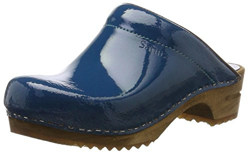 Sanita Damen Classic Patent Open Clogs, Blau (Denim 5), 39 EU Angel Classic Denim