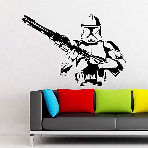 Tianpengyuanshuai Aufkleber Kommando Vinyl Wandtattoo Art Home Decoration Kinderzimmer abnehmbar 85x60cm -