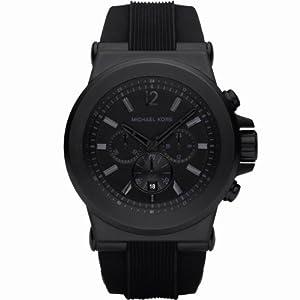 Reloj de caballero Michael Kors Mk8152 de cuarzo, correa de silicona color negro de Michael Kors