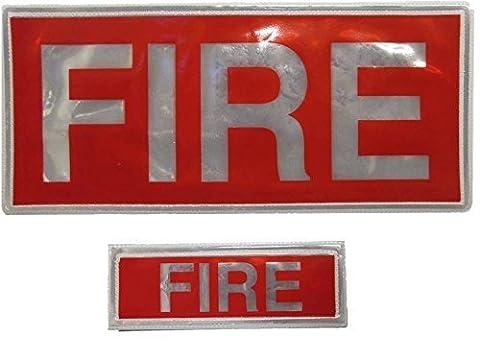 Red Fire Badge réfléchissant Lot (un grand et un petit) Livraison gratuite