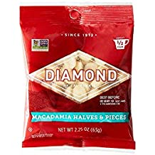 Diamond Nuts Macadamias, Chopped, 2.25-Ounce Bags (Pack of 12)