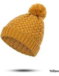 Sunonip Inverno Donna Pompon Cappello Ragazzo E Ragazza Generale Permuta  Cute Maglia Spesso più Velluto Addensare Tenere in Caldo… 39e03eccd29b