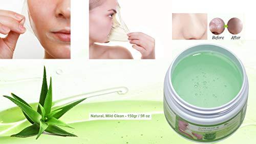 Blackhead Remover Maske, Mitesser Maske, Anti Aging Mask, Aloe Vera Gesichtsmaske, Peel Off Mask 150 gr | Natural & Mild | Premium Qualität | Aloe Plus von Secret Essentials - Aloe-maske