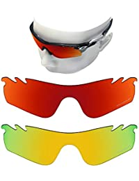 83f3114295 oowlit 2 pair replacement sunglass lenses for oakley radarlock path vented  polarized