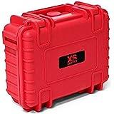 Xsories Huge Black Box - DIY - Mallette étanche IP67 et antichoc protection transport -pour votre matériel photo DSLR  - Rouge Taille XXL
