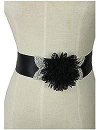Lemandy hermoso y sexy cinturón de flores de encaje para la boda y vestido de noche