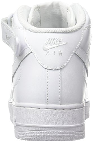 Nike Air Force 1 Mid 07, Sneakers Hautes Homme Blanc