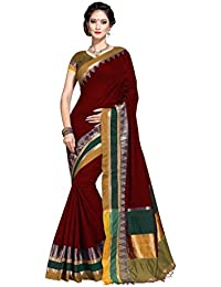 YETNIK Venkatagiri Cotton Silk Sari With Zari Border And Blouse Piece (party And Casual Wear Saree)