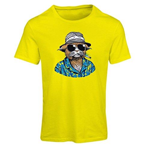 Filme 80er Jahre Kostüme (Frauen T-Shirt Vintage Schnüffler (Large Gelb)