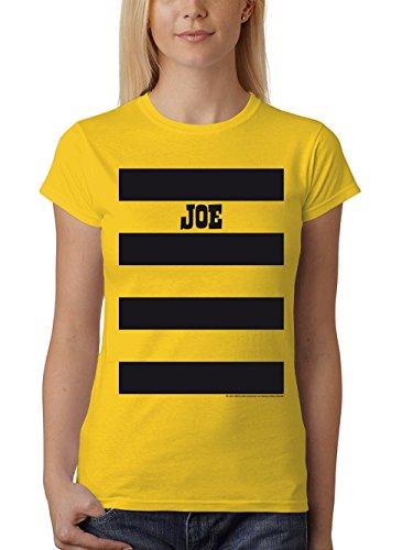 Girl Lucky Kostüm - clothinx Damen T-Shirt Fit Lucky Luke Karneval 2019 Die Daltons Gruppen-Kostüm Gelb/Joe Größe M