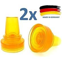 """Par de alta visibilidad grande base absorción de golpes Flexible 19mm (3/4"""") de goma Seguridad virola End Caps consejos para muletas y Bastones"""