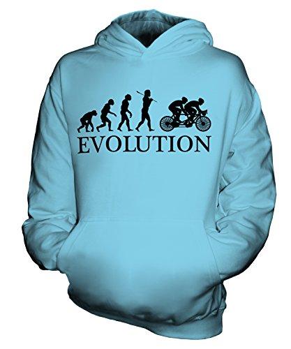 Candymix Tandem Fahrrad Evolution des Menschen Unisex Kinder Jungen/Mädchen Kapuzenpullover, Größe 1-2 Jahre, Farbe Himmelblau