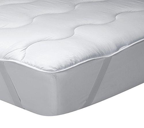 Classic Blanc - Surmatelas en fibre hypoallergénique, confort médium-ferme, épaisseur 3cm. 180x200 cm-Lit 180