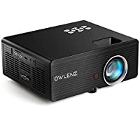 OWLENZ SD90 Projector 3000 Lumens 1280*720 LCD Mini Projector, Multimedia Home Theater Video Projector Support 1080P HDMI USB SD Card VGA AV Home Cinema