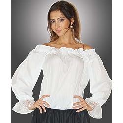 Maylynn 12500 - Blusa Grit, blanca, talla M