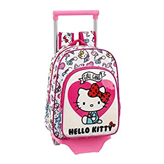Hello Kitty Mochila pequeña Ruedas, Carro, Trolley