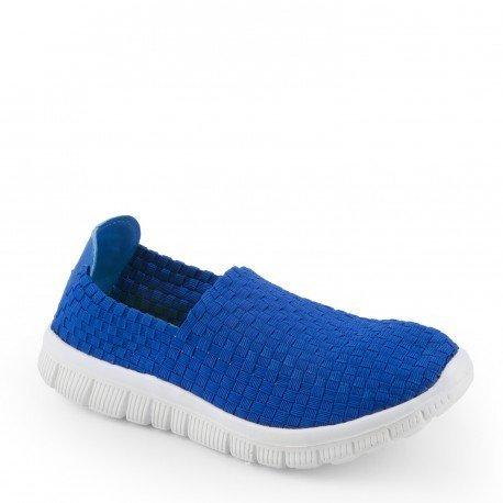 Ideal Shoes - Baskets tressées Regine Bleu