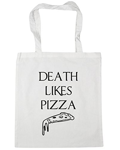 hippowarehouse-death-likes-pizza-tote-shopping-gym-beach-bag-42cm-x38cm-10-litres