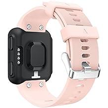 Bescita Ersatz Armband Silikagel Weiche Band Strap Uhrband Ersatz für Garmin Forerunner 35