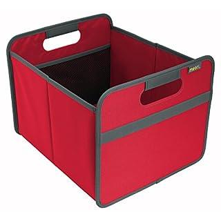 Meori Faltbox Classic Medium Hibiskus Rot/Uni 32x37x27,5cm stabil abwischbar Polyester Premium Qualität Wohnen Einrichtung Möbel Sortierung Aufbewahren Verstauen