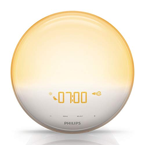 Philips HF3520/01 Wake-Up Light (Sonnenaufgangfunktion, digitales FM Radio, Tageslichtwecker) weiß - 2