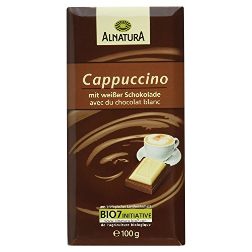 Alnatura Bio Cappuccino-Milchschokolade und weiße Schokolade, 100 g