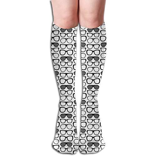 Pillowcase Wholesale Sunglasses Black White No Women Tube Knee Thigh High Stockings Cosplay Socks 50cm (19.6 inch)