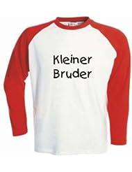 Kinder Baseball T-Shirt langarm Kleiner Bruder / Größe 92 - 162