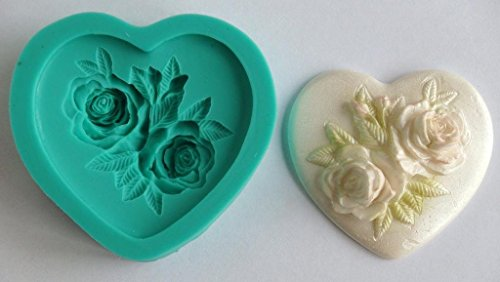 kbksiliconemoulds Sugarcraft della gomma di silicone Stampi Cake Decorating resina Stampi Mestieri Fondant Gumpaste Cuore