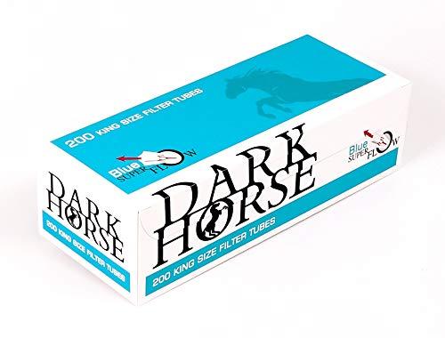 Dark Horse King Size Tubes Blue Super Flow, 200 Zigarettenhülsen pro Box 1 Box (200 Hülsen)