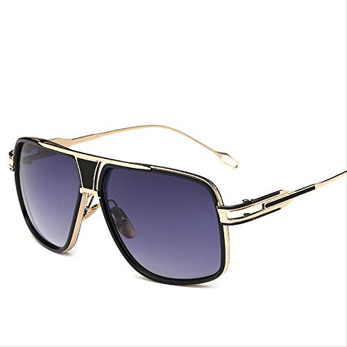 JU DA Sonnenbrillen New Style 2019 Sonnenbrille Männer Marke Designer Sonnenbrille Fahren Oculos De Sol Masculino Grandmaster Square Sonnenbrille 4-Gold-GradientGray