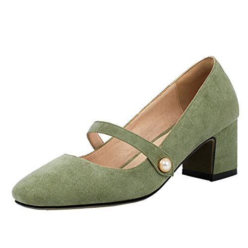AIYOUMEI , Bride cheville femme Vert