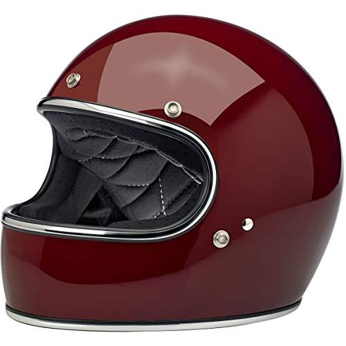 Biltwell Gringo casco de motocicleta de rostro completo granate brillante