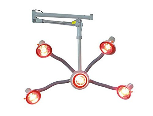 5 Kopf Infrarot Hitze Lampe Hängend rot Licht Haar Trockner Farbe Prozessor Haar Styling Flexibel Waffen Mit Fünf Glühbirnen (Hitze-prozessor)