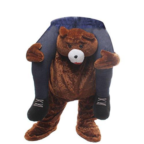MagiDeal Unisex Spaßkostüm Barenkostüm Bär Funny Straßenkarneval Bär Hosen Halloween Party Outfit (Honig Bären Kostüm)